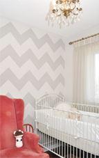 Utiliza las rayas chevron en paredes