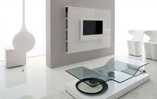 Consigue un estilo minimalista anclando la televisión en la pared