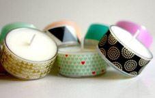 Crea velas con washi tape