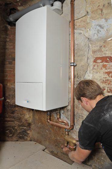 Instalación de caldera de gas