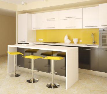 decoración amarillo negro