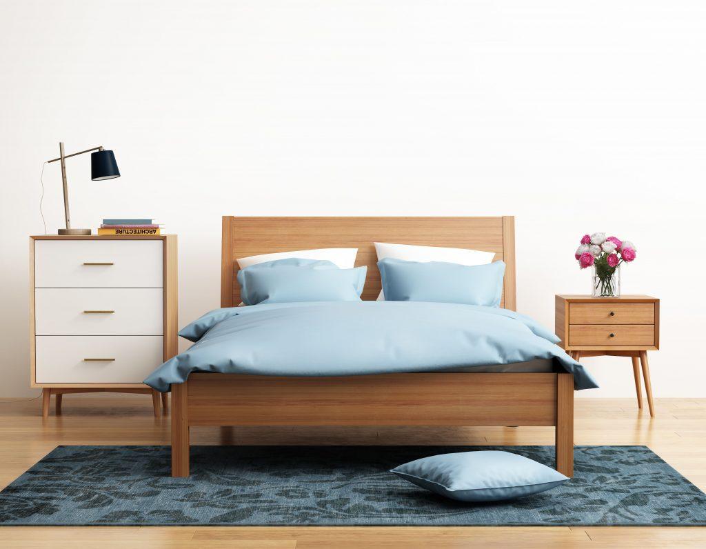 Cabecero de cama al suelo