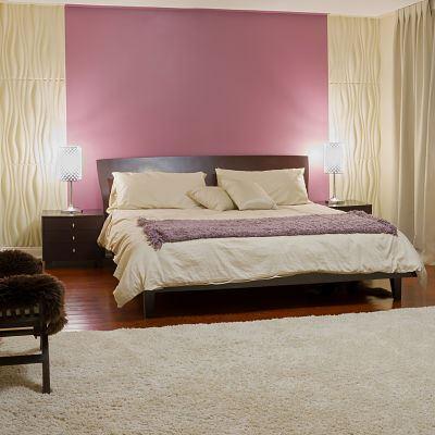 Pintar habitación violeta blanco