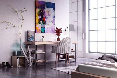 Diseño dormitorio estudio