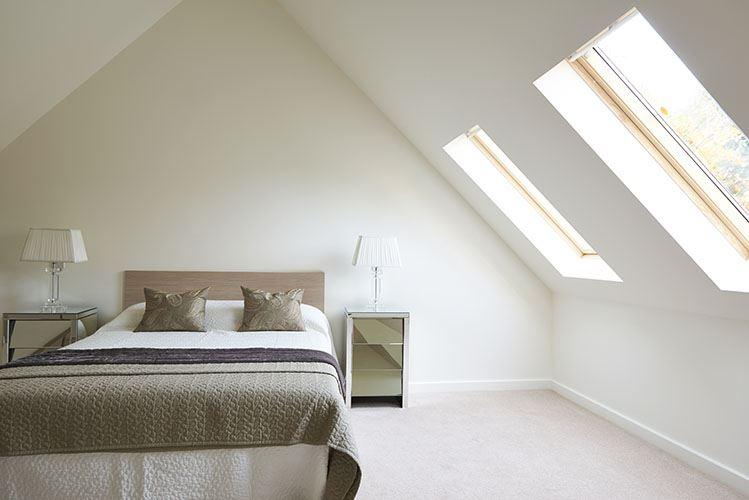Dormitorio pequeño luminoso